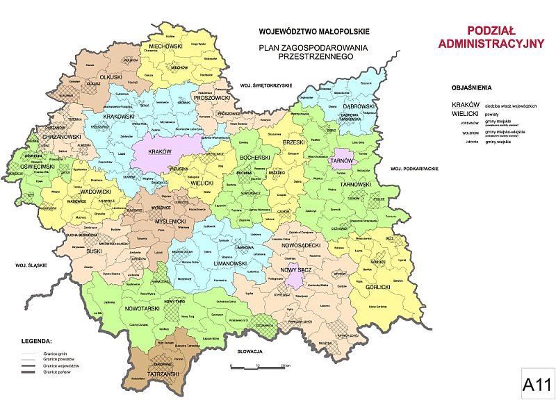 Malopolska Mapy Podzial Administracyjny