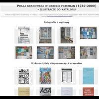 Prasa krakowska w okresie przemian - ilustracje
